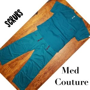 Med Couture Teal Scrub Set